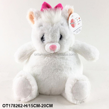 cute plush fat belly stuffed furry white fox toy round chubby animal
