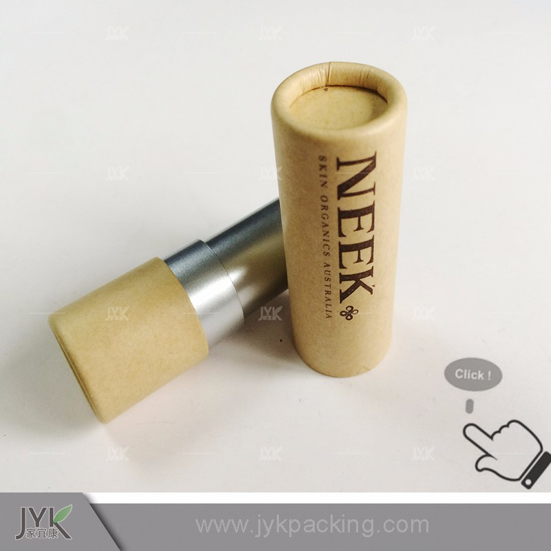 Custom eco-friendly handmade paper tube for lip balm packaging