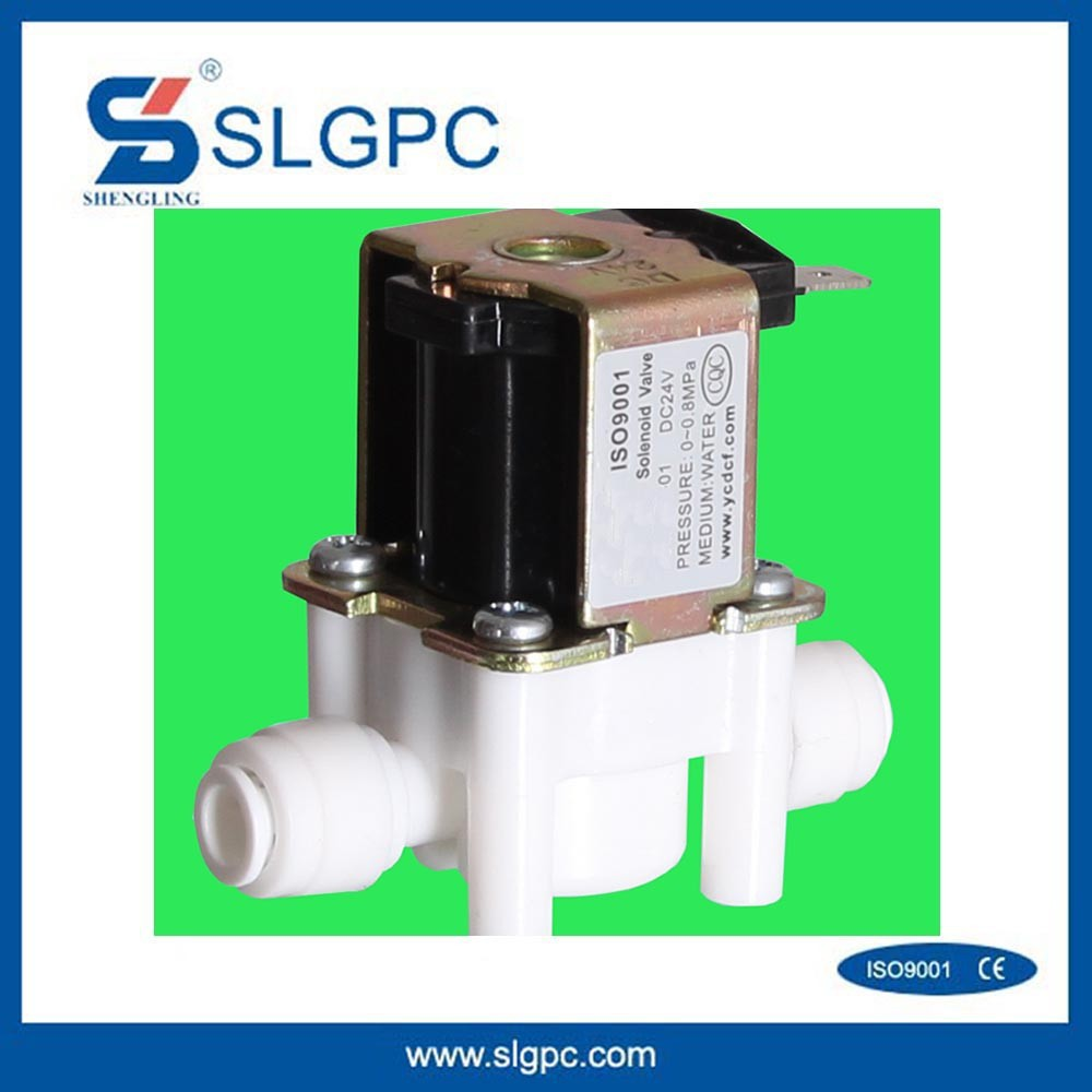 Ningbo pneumatic valves low price drinking SLGPC-P01 12v water plastic solenoid valve