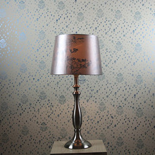 indoor decorative Metal table lamp with picture and brand logo for retail ;