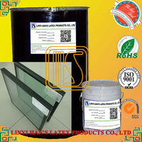 Non-toxic liquid double component silicone sealant for glass