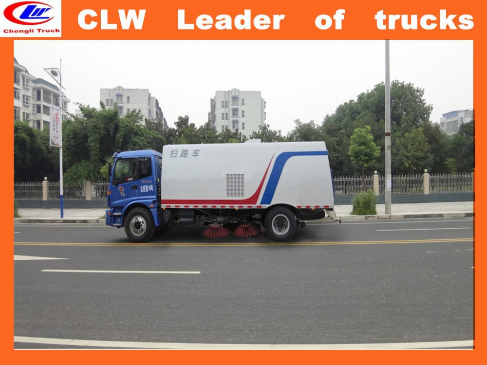 China exported vacuum road sweeper truck price off road sweeper truck 4*2 small sweeper truck