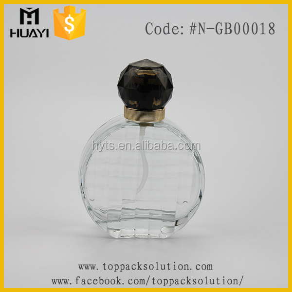 Wholesale fashion crystal diamond perfume bottle with fancy cap