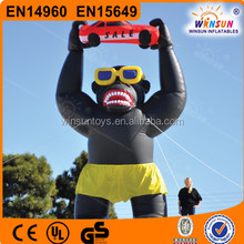 Factory price Inflatable Gorilla with Shorts, Sunglasses, inflatable advertisement