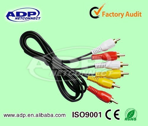 2017 Wholesale Best price ADP rj11 rca 3.5mm audio cable with 2rca 3rca