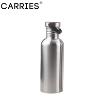 Outdoor Sports Stainless Steel Silver Color 1000ml Water Bottle