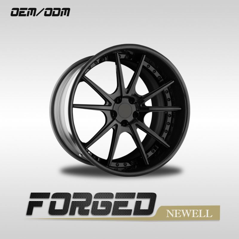 Forged Wheel 3 Piece 5x114.3 17 Inch Car Alloy Wheels Rims