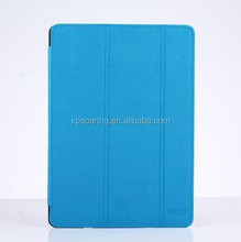 for ipad 6 Stand flip leather cover case, for ipad air triple folding PU case