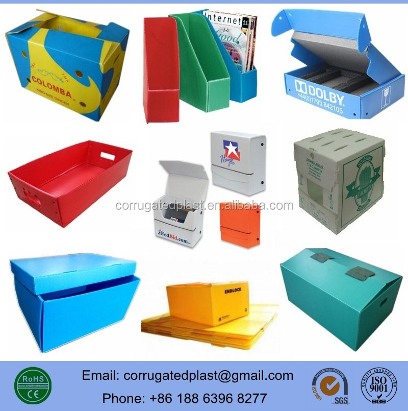 Custom Big Size Plastic Corrugated Core Boxes for Shipping Storage