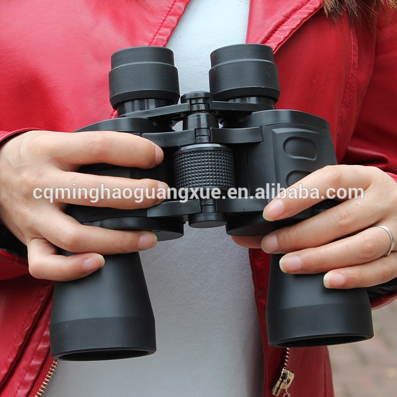 High Quality 10x50 Wide-Angle Central Zoom Military Binocular Telescope with Case
