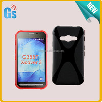 Gel Flexible X Line Design TPU For Samsung Galaxy Xcover 3 G388F Case Cover