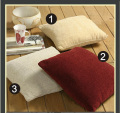stock of acrylic chenille cushion & throw