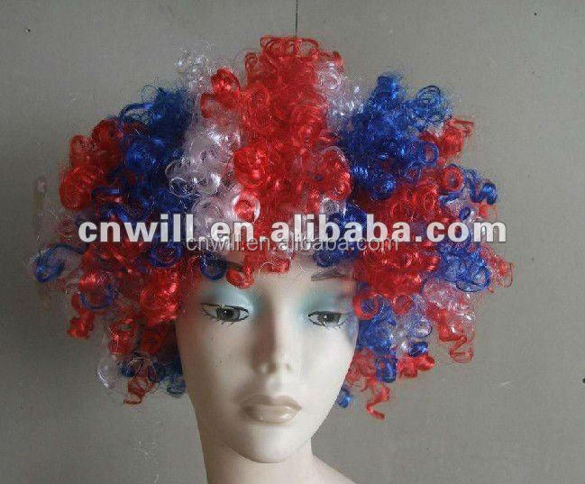 football fan wigs hair flag wig cosplay wig