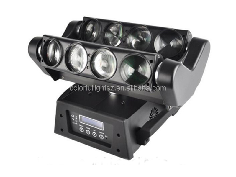 disco LED Moving Head aura machine Wash stage lights 8pcs*10W RGBW LED Spider Moving Head Beam Light