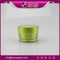 Green color Shape Plastic Cream jar 15ml 30ml 50ml Empty Cosmetic Packaging