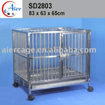 Stainless steel pet cage dog cage good quality cage