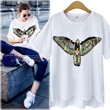 wholesale Alibaba clothes New lady t shirt fancy chiffon for lady t shirt