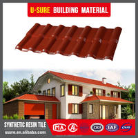 Good quality Construction material factory wholesale synthetic resin spanish roof tile
