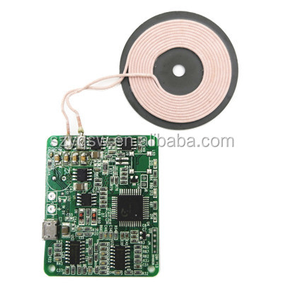 Wireless Charger Transmitter Module Components DC 5V 0.1-1A ODM PCBA Coil Solution