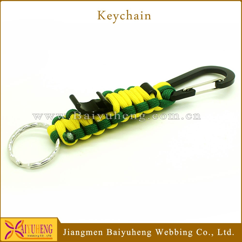 bottle opener keychain wholesale paracord key chain