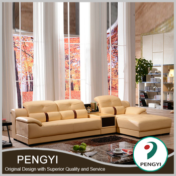 Hot style living room leather sofa py903