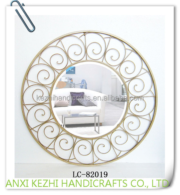 LC-82019 Classical Europe round iron metal mirror frame