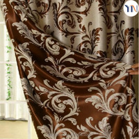 Luxury Jacquard blackout curtain fabric for hotel and home curtain, upholstery decoration flame retardant textiles manufacturing