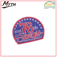 Custom design heat transfer silk screen printing iron on embroidery emblem patch