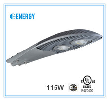 UL DLC listed led street light 100w, 115w street lamp ip65 outdoor light