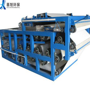 Compact type sludge dehydration belt filter press