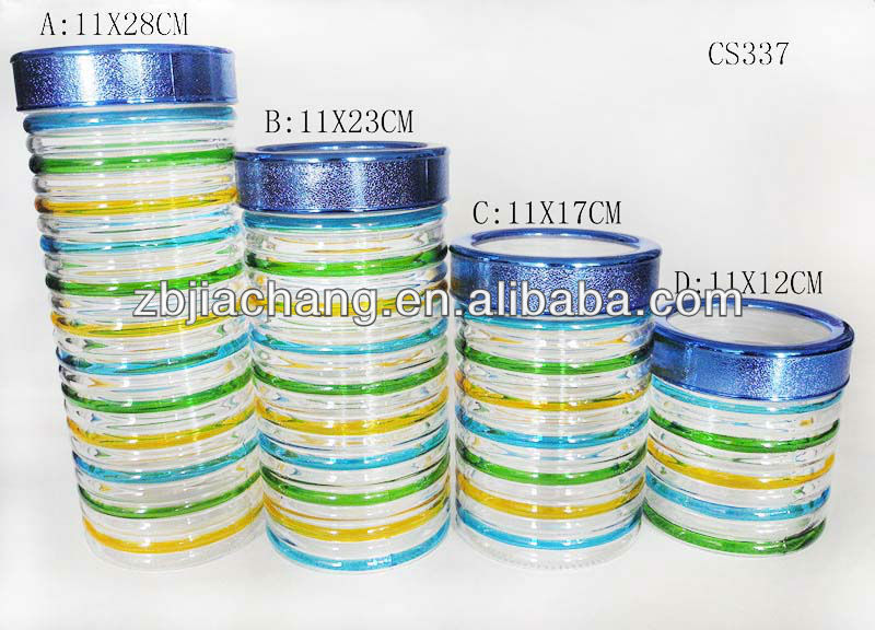 CS337 cylinder glass containers for food