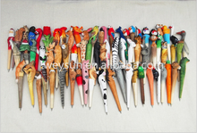 Wooden animal carving creative ballpoint pen Chinese Zodiac wood pens