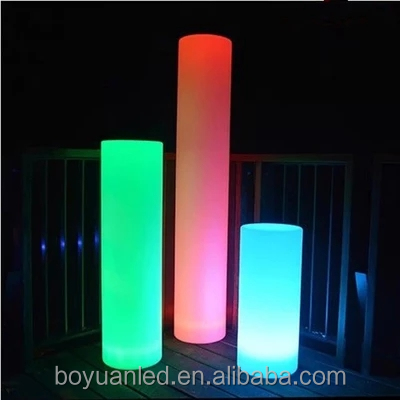 Wireless remote control lighting led column pillar for party decoration