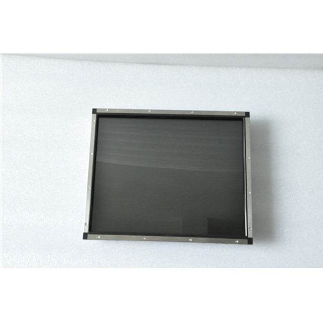 high quality cheap 15 inch open frame lcd monitor with single point saw touch screen