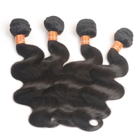 Mink 7A Grade 3Pcs Unprocessed Virgin Brazilian Hair, Queens Hair Products Brazilian Human Hair Weave