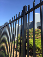 Powder Coated Steel Factory Security Fence
