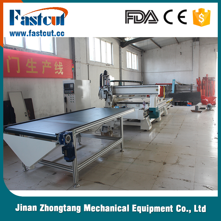 automatic loading and unloading cnc nesting machine , auto feeding cnc router production line