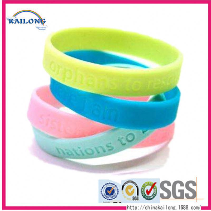 Basketball Sport Silicon Bracelet With Bluetooth Debossed Band Styles