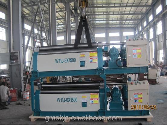 W11J-6X1500 Electric Conical Plate Rolling Coiling Machine , Plate Roller Bending Machine, steel plate roller bending machine