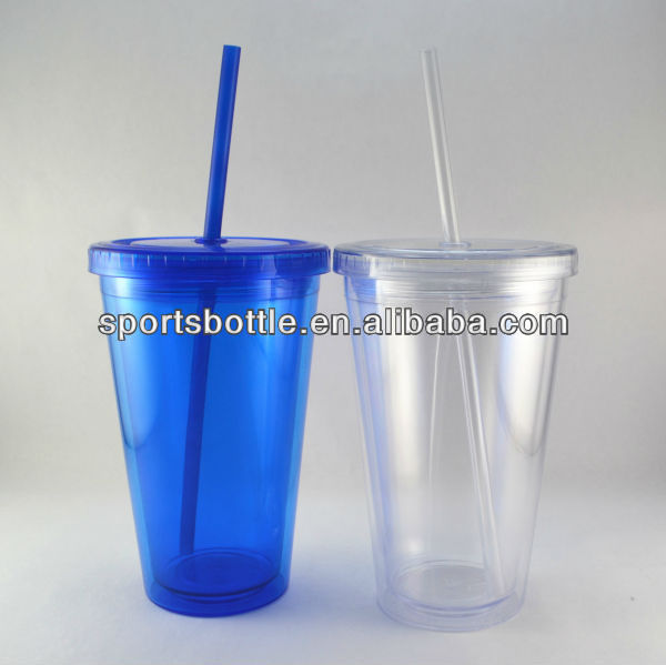 BPA free disposable plastic cups lid and straw promotion