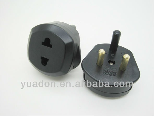 eu power outlet socket/USA to South africa travel adaptor