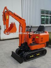 0.8ton mini hydraulic crawler excavator with Japan Yanmar engine,hammer,bucket,ROPS,rubber tracks,CE