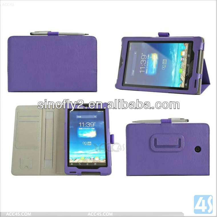 High Quality Ultra Slim Leather Case Magnet Stand Cover for Asus Memo Pad FHD 7 Me302c P-ASUSFonePadHD7CASE001