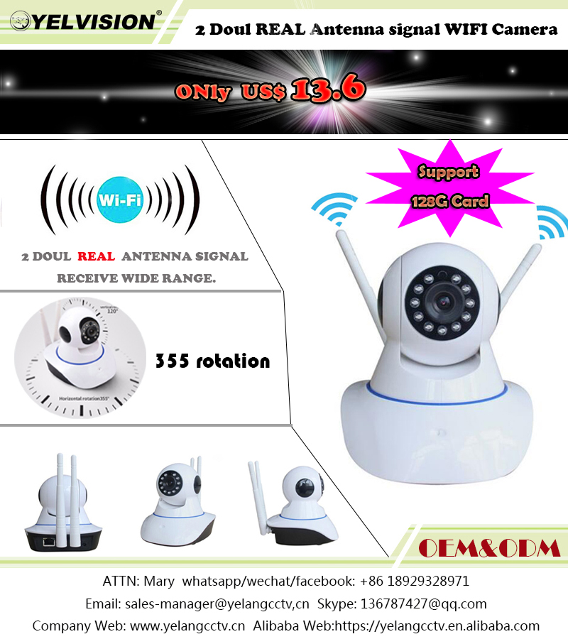 360 degree cctv camera wireless baby monitor