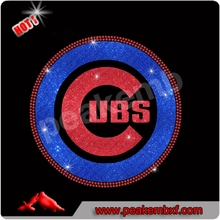 Hot Sale Chicago Design Iron on Cubs Glitter Heat Transfer Vinyl
