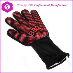 Extreme Protection Cooking 932F Heat Resistant and Cut Resistant Forearm Protectant BBQ Gloves / Oven Mitts / Grill Gloves