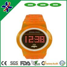 2015New arrival Hot sale unisex colorful silicone bracelet watch led watch