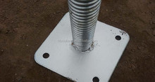 galvanized steel square post scaffolding adjustable swivel screw threaded base plate