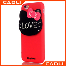 Lovely soft silicone hello kitty back cover Phone Case for iPhone 6 plus with mirror back