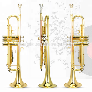 Bb Gold Lacquer Trumpet with Cheap Price